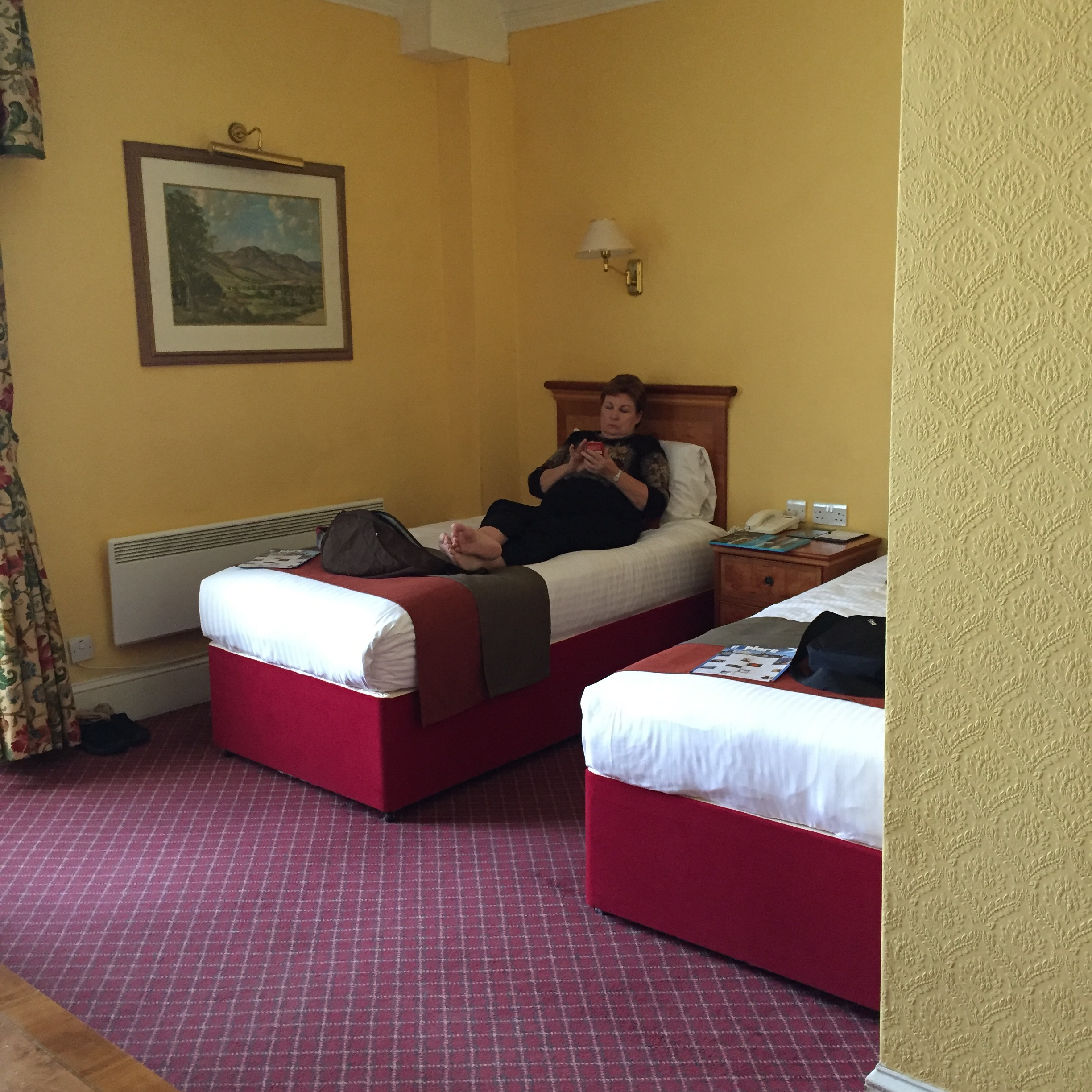 hotel room at The Royal Highland Hotel