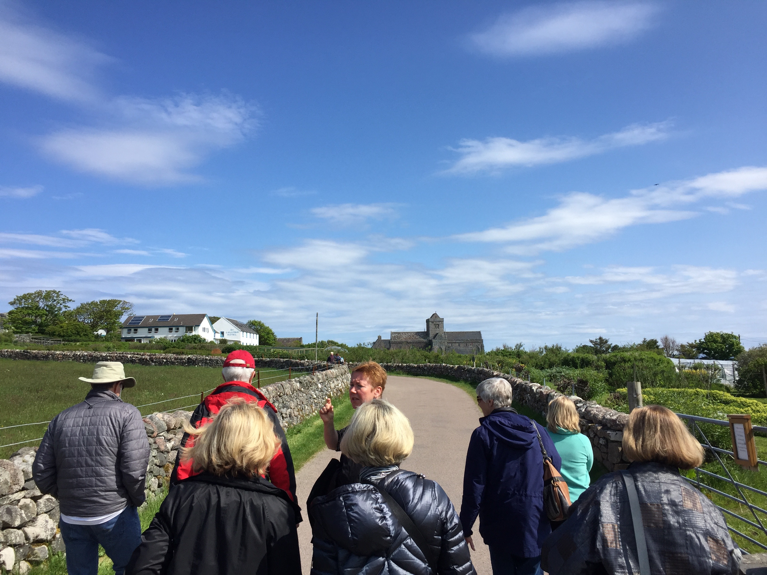 Tour group in Iona