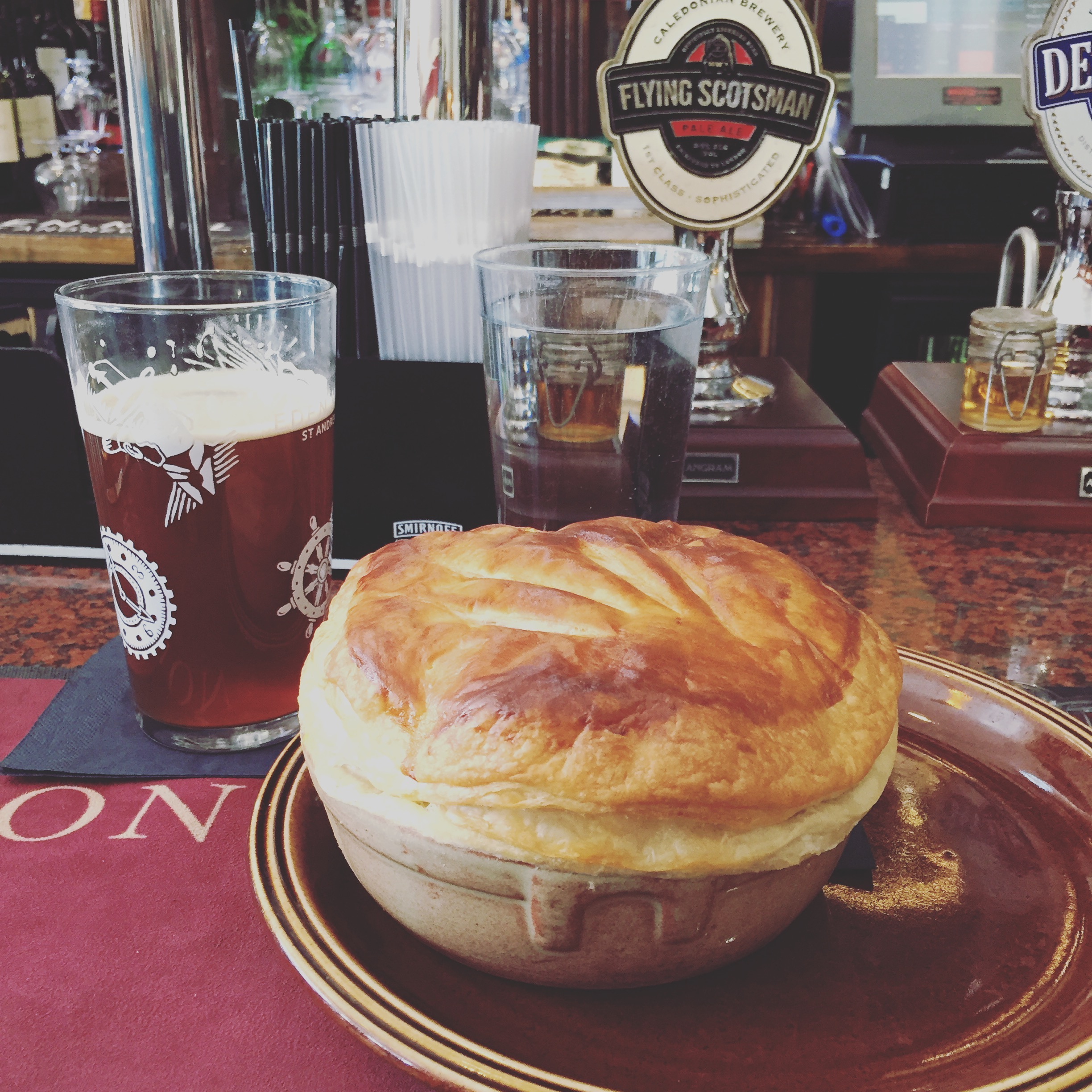 Scottish pie and ale